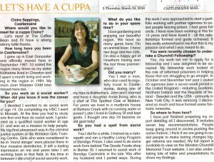 'Let's Have a Cuppa' - Castlemaine Mail 24th March 2016